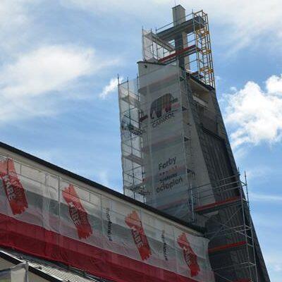 Prace remontowe przy kościele 2021